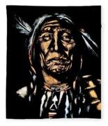 Native American Elder Fleece Blanket