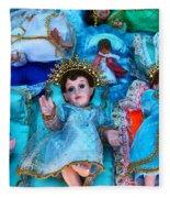 Nativity Scene Figures Fleece Blanket