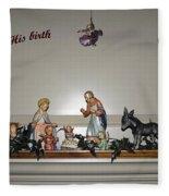 Nativity Set Fleece Blanket