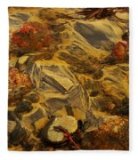 Natural Abstract Fleece Blanket