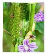 Natural Bouquet Fleece Blanket