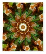 Natural Pinwheel Fleece Blanket