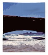 Natural Stone Bridge - Aruba Fleece Blanket