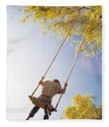 Natural Swing Fleece Blanket