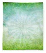 Nature Grunge Paper Fleece Blanket