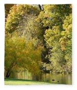 Nature Of The Fall Fleece Blanket