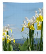 Nature Photography Irises Art Prints Fleece Blanket