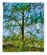 Nature's Church Windows  Fleece Blanket