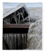 Natures Ice Sculptures 5 Fleece Blanket