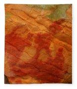 Nature's Palette In Stone Fleece Blanket