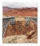 Navajo Bridge In Arizona Fleece Blanket