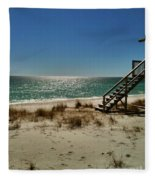 Navarre Beach Fleece Blanket