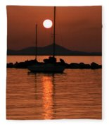 Naxos Island Greece Fleece Blanket