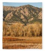Ncar And Flatiron View Boulder Colorado   Fleece Blanket