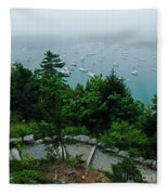 Ne Harbor Maine Seen From Thuya Gardens Mt Desert Island  Fleece Blanket