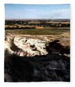 Nebraska Plains Fleece Blanket