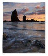 Needles Sunset Fleece Blanket