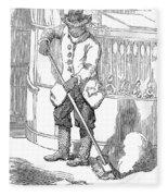 Negro Porter, 19th Century Fleece Blanket