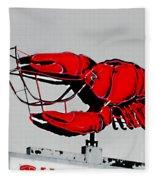 Neon Crawfish On Hwy 61 Baton Rouge Fleece Blanket