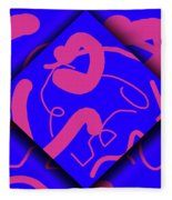 Neon Out Of Bounds Fleece Blanket