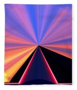 Neon Pinnacle Fleece Blanket