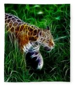 Neon Tiger Fleece Blanket