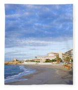 Nerja Beach On Costa Del Sol Fleece Blanket