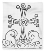 Nestorian Cross, 781 A.d Fleece Blanket