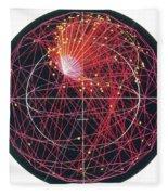 Neutrino Tracks Fleece Blanket