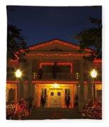 Nevada Governors Haunted Halloween Mansion Fleece Blanket