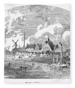 New Amsterdam, 1650 Fleece Blanket
