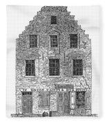 New Amsterdam: House, 1626 Fleece Blanket