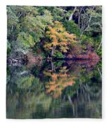 New England Fall Reflection Fleece Blanket
