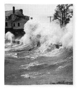 New England Hurricane, 1938 Fleece Blanket