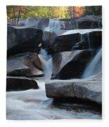 New Hampshire Waterfall 1 Fleece Blanket