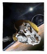 New Horizons Spacecraft At Pluto Fleece Blanket