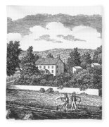 New Jersey Farm, C1810 Fleece Blanket