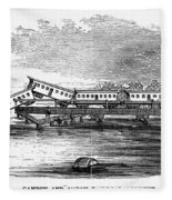 New Jersey: Train Wreck Fleece Blanket