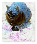 New Kitty Blue Fleece Blanket