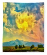 New Mexico Dawn Fleece Blanket