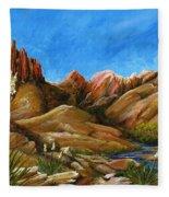 New Mexico Highlands In Spring Fleece Blanket