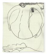 New Mexico Moon 3 Fleece Blanket