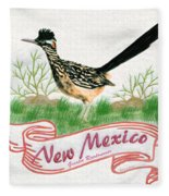 New Mexico State Bird The Greater Roadrunner Fleece Blanket
