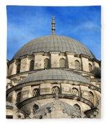 New Mosque Domes In Istanbul Fleece Blanket