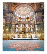 New Mosque Interior In Istanbul Fleece Blanket