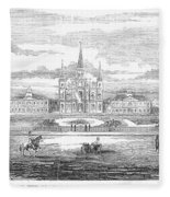 New Orleans, 1853 Fleece Blanket