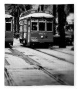 New Orleans Classic Streetcars. Fleece Blanket