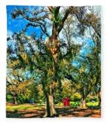 New Orleans Sculpture Park Fleece Blanket