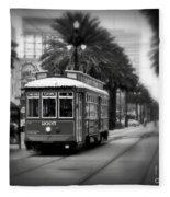 New Orleans Streetcar 2 Fleece Blanket