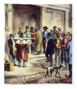 New Orleans: Voting, 1867 Fleece Blanket